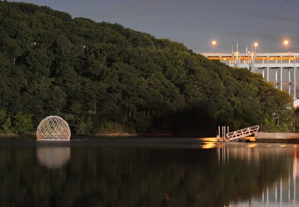 SLO Architecture's Harvest Dome 2.0 was installed at the Inwood Hill Park inlet in northern Manhattan from July 31 to September 3, 2013.