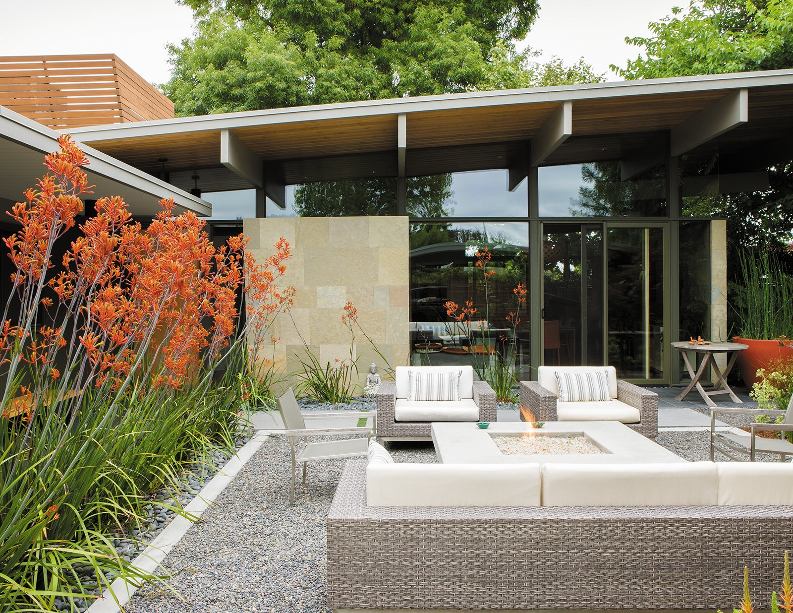 Photo 9 of 9 in creative landscape design for a renovated Outside rooms garden design