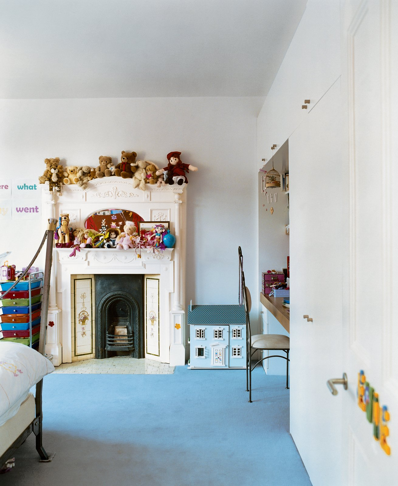"The kids' rooms were designed to let the littlest Brenners express their own tastes. ""When designing you need to accommodate lots of functions, from piano lessons to just hanging out,"" says Phillips. ""A house should have all the elements that allow you to relax.""  Photo 4 of 10 in Victorian Secrets"
