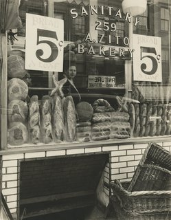 Street Photography of New York and Paris's Ghostly Past - Photo 1 of 10 - Berenice Abbott. Bread Store, 259 Bleecker Street, Manhattan, February 3, 1937 Gelatin silver print; printed c.1937