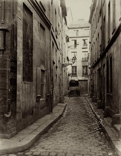 Street Photography of New York and Paris's Ghostly Past - Photo 7 of 10 - Charles Marville. Cul-de-sac d'Amboise de la rue du Haut-Pave, 1865-1869. Albumen print from a wet-collodion negative.