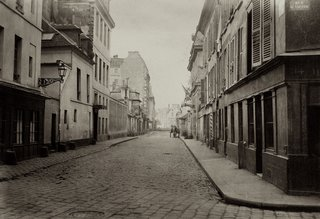 Street Photography of New York and Paris's Ghostly Past - Photo 8 of 10 - Charles Marville. Rue de Pontoise de la rue St. Victor, 1865-1869. Albumen print from a wet-collodion negative.