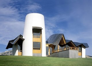 Maggie's Centres: A Blueprint for Cancer Care - Photo 1 of 14 - Maggie's Dundee exterior. Architect: Frank Gehry. Pic © Raf Makda, August 2003.