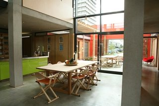 Maggie's Centres: A Blueprint for Cancer Care - Photo 10 of 14 - West London kitchen. Architect: Sir Richard Rogers, Rogers Stirk Harbour + Partners. © Maggie's Centres.