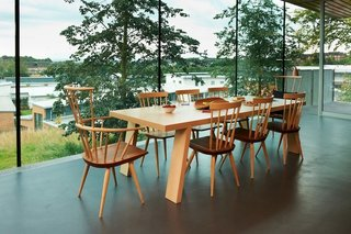 Maggie's Centres: A Blueprint for Cancer Care - Photo 12 of 14 - Gartnavel kitchen table. Architect: Rem Koolhaas, OMA. © Nick Turner.