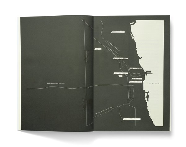"""A map of the firms profiled in Studio Issue <a href=""""/discover/4"""" target=""""_blank"""">#4</a>. The magazine was started by Zoe Ikin, who spent time in Chicago during production of this issue, and her collaborators Clem Devine and Sam Trustrum, her fiance."""