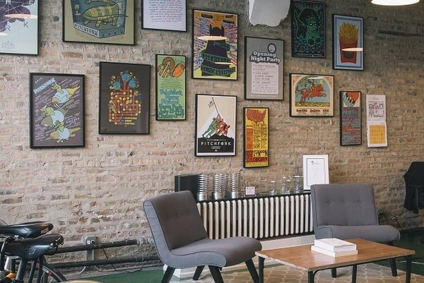 The interior of Pitchfork Media, located in the city's Logan Square neighborhood.