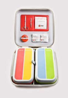 Mikal Hallstrup on the Design of Everyday Things - Photo 6 of 6 - Falck, a Danish health care company, worked with Designit to redesign the standard first-aid kit. The simple, colorful kit presents an intuitive visual representation of the materials contained within, making it easy use in an emergency. It is divided into four easily accessible sections representing four common first-aid needs: burns, bleeding, bruises, and sprains. Image courtesy of Designit.
