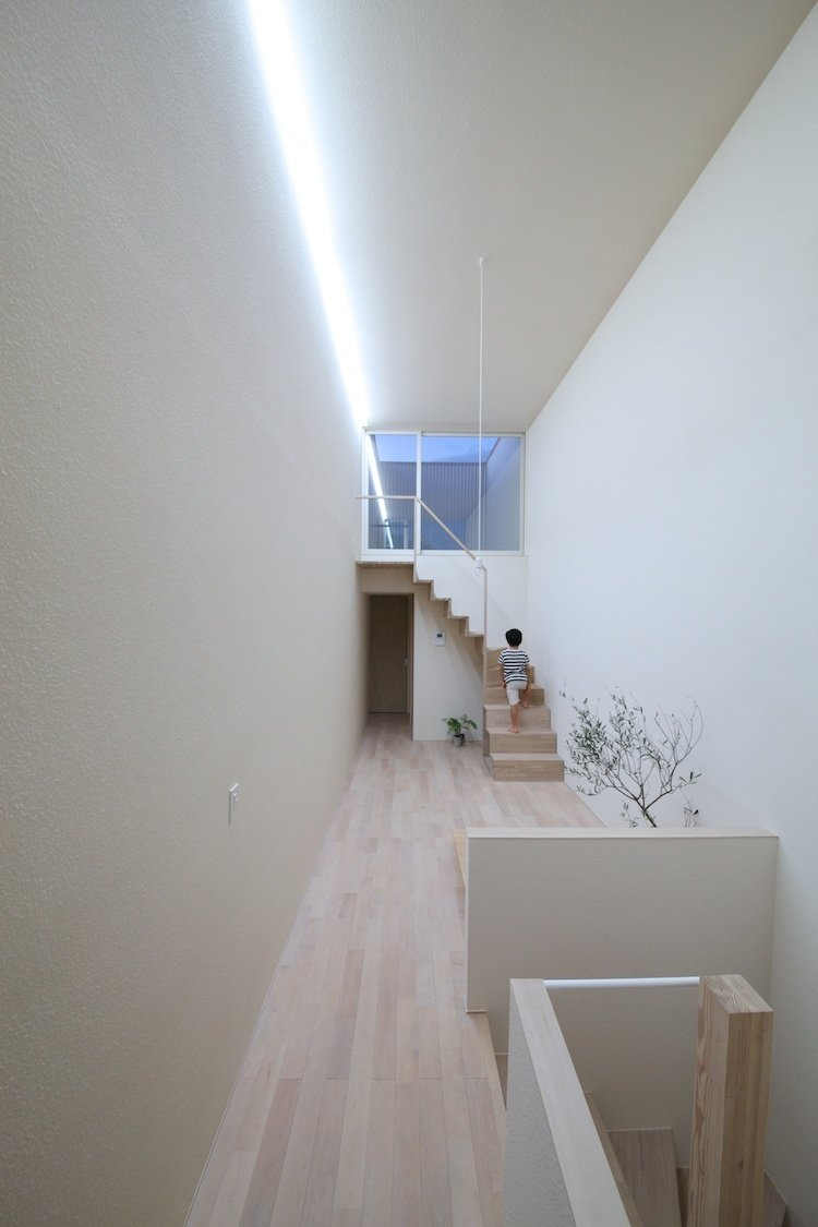 Imai House by Katsutoshi Sasaki + Associates  Sasaki realized that with limited floor space, he couldn't be bound by assigned roles for each room. He concentrated on airy, open, and overlapping environments.  Photo provided by Katsutoshi Sasaki + Associates  Photo 2 of 7 in Minimal Home on a Narrow Plot in Japan