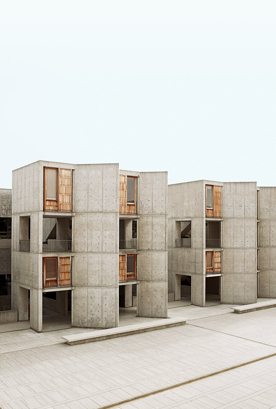 Louis Kahn's Salk Institute (top left) is a stunning building that looks directly out to the sea. Architectural tourists flock to the site, which still functions as a working laboratory.  buildings by pulltab from San Diego, CA