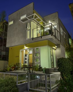 "A Sustainable ""Case Study"" House in California - Photo 3 of 8 - A view of the house from the front. Photo by Ken Pagliaro Photography."