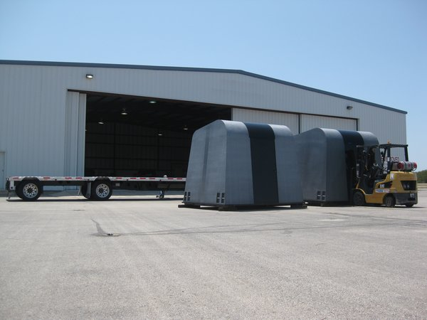 The structure bests anything FEMA's been using in many ways -- it can be assembled by hand in two minutes, costs a quarter of the money to build and is stackable and portable (20 shelters, enough to house 80 people, can fit on a standard trailer truck.