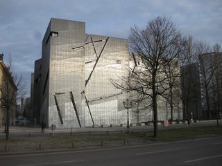 10 Inspiring Modern Memorials - Photo 4 of 10 - 4. Jewish Museum Berlin (Berlin, Germany): Designed by Daniel Libeskind<br><br>The master architect crafted a stunning, emotive statement about Jewish life and loss in Berlin. Within the reinforced concrete alleys, hallways and gardens of this structure stand evocative structures (the abstracted Star of David, the grid of pillars in the Garden of Exile, the 66-foot-tall Holocaust Void) that translate experience into space. Photo by Goodnight London.