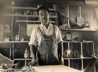 George Nakashima in his workshop
