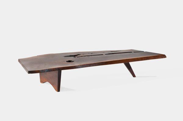 Slab Coffee Table<br><br>An example of one of Nakashima's most iconic designs, this large piece was crafted from walnut. Photo courtesy George Nakashima Woodworker, S.A.