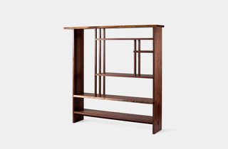 Design Icon: George Nakashima - Photo 10 of 10 - Chigaindana Shelf<br><br>Initially built for Widdicomb-Mueller in the '60s, these Mondrian-like forms draw inspiration from Japanese architecture. Photo courtesy George Nakashima Woodworker, S.A.