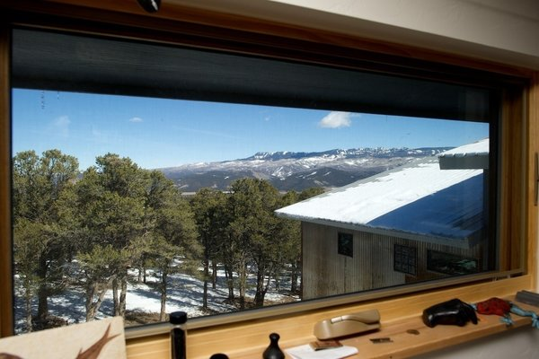 The view of the snow-capped San Juan Mountains from Barry's office. Photo by Barry B. Doyle.