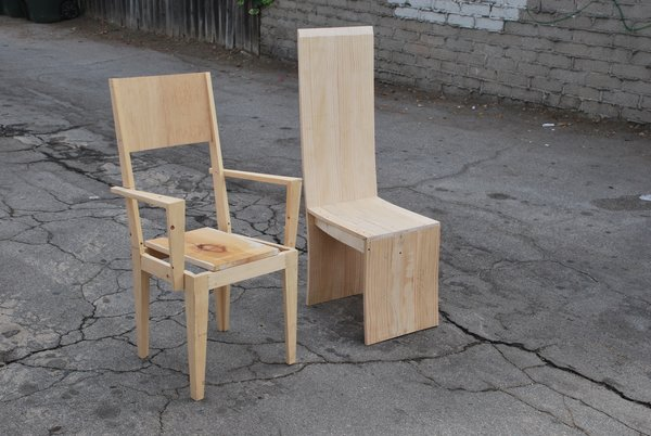 """When we delivered [the table], my dad and I stood on top of the table to show him how strong it was. [The client] was so impressed and asked us to design chairs to go with it,"""" Sevak says. The project, dubbed """"Five Chairs Times Two"""" are still in progress."""