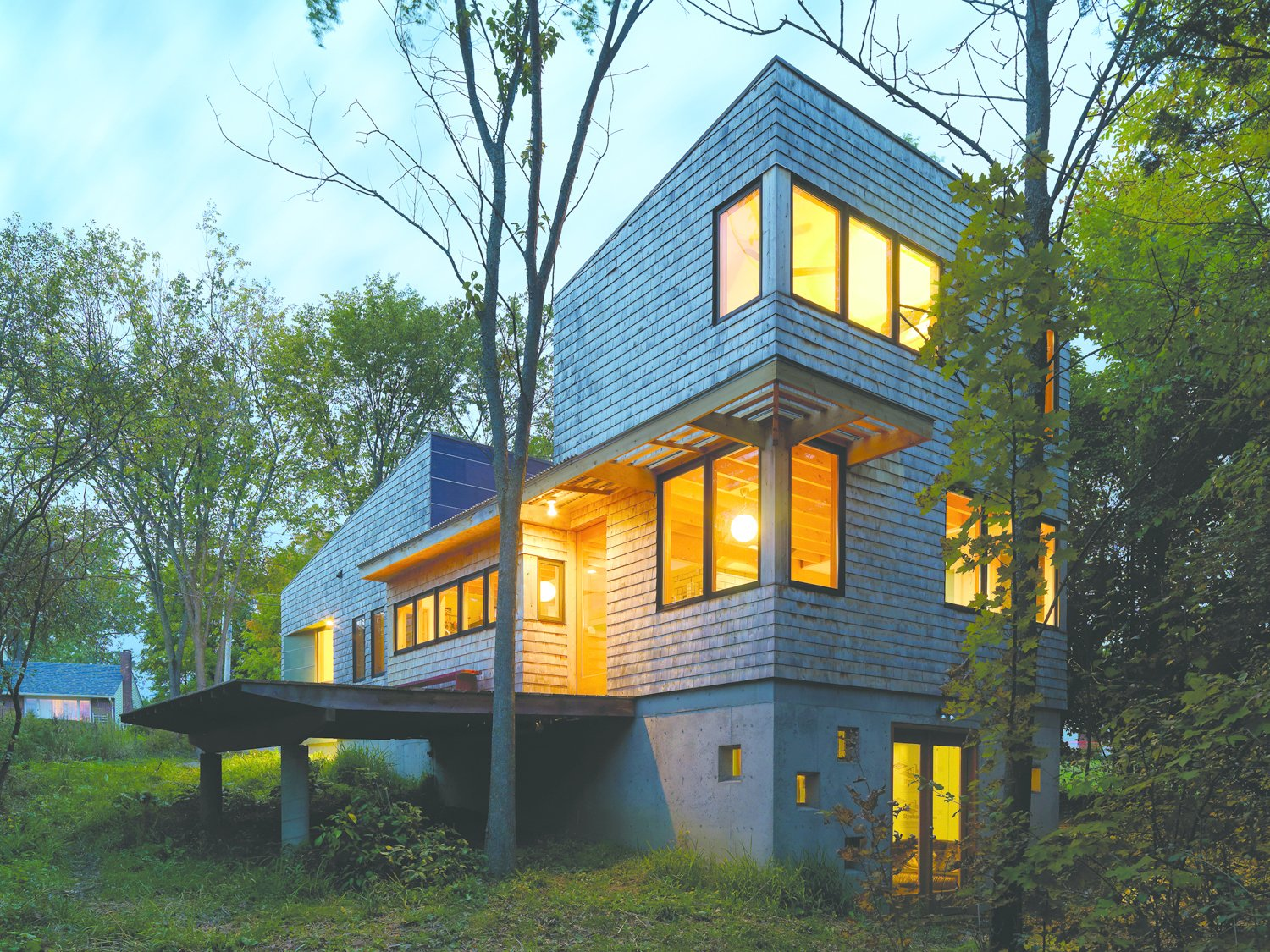 The Nature Preserve House in Middlebury, Vermont, won the AIA Vermont Merit Award for Excellence in Architecture.  Photo 5 of 8 in McLeod Kredell: Locavore Architects in Vermont