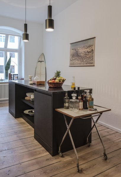 Kitchen of the Freunde von Freunden X Vitra ApartmentCompleted in early March, the apartment has already been used for commercial shoots, as a showroom for press days, and for dinner among friends and colleagues.Photo by Steve Herud
