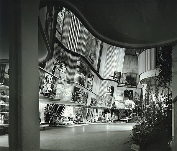 Finnish Pavilion at the 1939 World's Fair (New York, USA: 1939)  It's fitting that a man often called one of Finland's greatest architects would cap his most successful decade of work with a structure that celebrated his country's contributions to the world. Within the compact, four-story structure, photos of landscapes, people and products looked out over curvaceous, wood-slatted walls, a flowchart of Finnish industry capped off by airplane propellers spinning like fans from the ceiling.  Photo 2 of 11 in Design Icon: 10 Buildings By Alvar Aalto