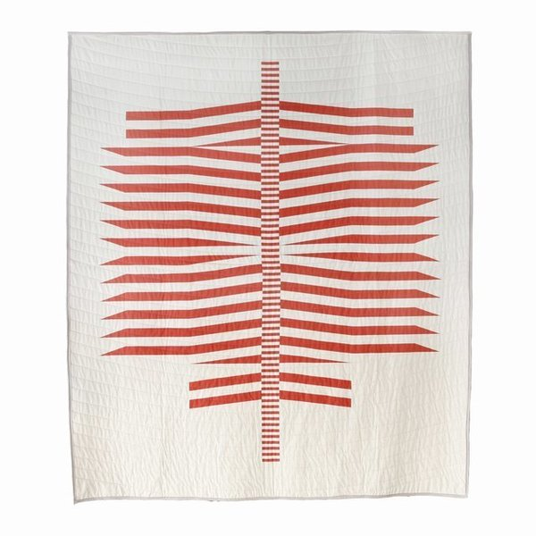 """The Spine quilt was a personal breakthrough for Callahan. """"It's bold, but subtle; soft looking and inviting; but it's also sharp and intense,"""" she says."""