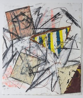 Michael Goldberg, Untitled (43), 1992, oil and pastel. Bowdoin College Museum of Art, Brunswick, Maine, Dorothy and Herbert Vogel Collection Vogel Collection. Photography by Dennis Griggs.
