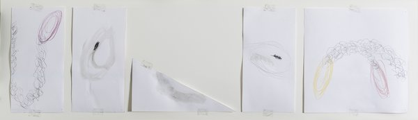 Richard Tuttle, Oval [383], 2001, colored pencil and graphite. Bowdoin College Museum of Art, Brunswick, Maine, Dorothy and Herbert Vogel Collection. Copyright © Richard Tuttle, courtesy Pace Gallery. Photography by Dennis Griggs.