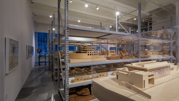 About 400 handmade models are on display at the museum. Additional models are stored at the Richard Meier & Partners offices in Manhattan. Photo courtesy of Steven Sze, Richard Meier & Partners.