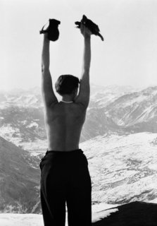 Eye on Design: Charlotte Perriand - Photo 3 of 5 - Charlotte Perriand in the mountains of Savoie, France, circa 1930. Copyright Archives Charlotte Perriand.