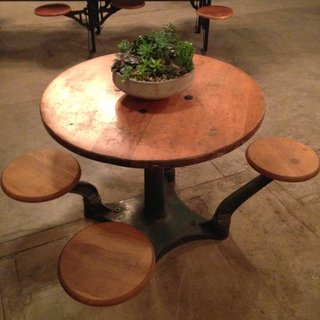 One-of-a-kind American Street Showroom fabricated table.