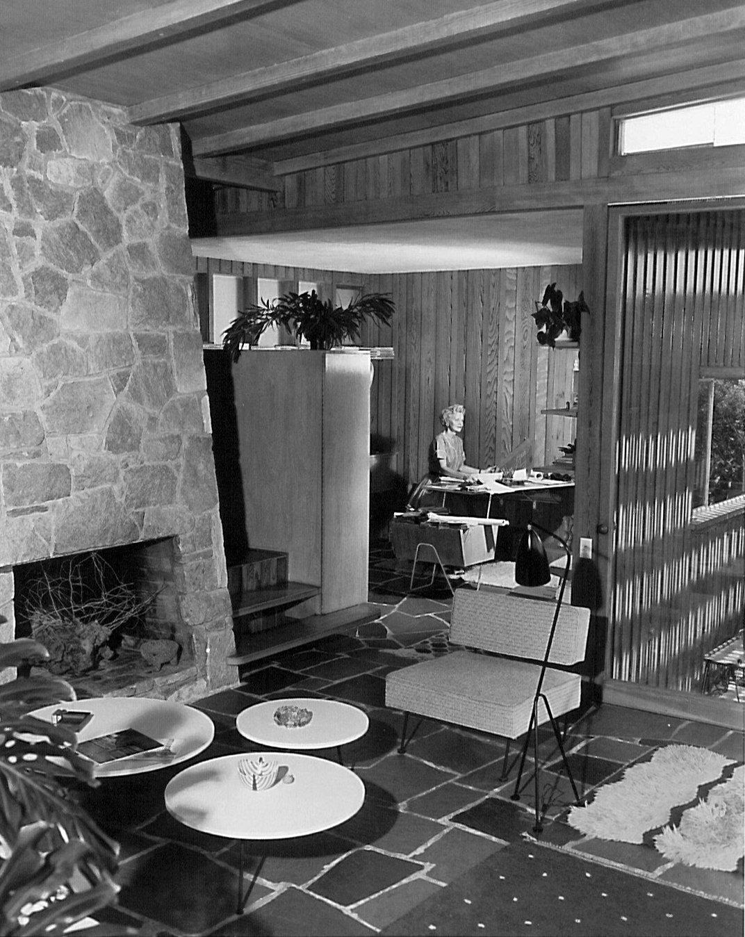 Interior of Greta Grossman's home. Photograph by Julius Shulman.