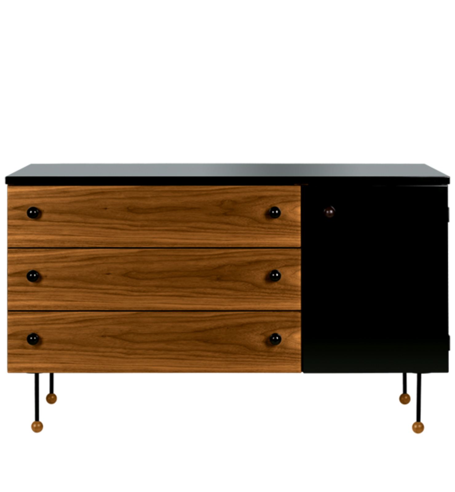 Grossman's 1952 collection, which included a desk and three dressers was named 62-Series because the design was thought to be ten years ahead of its time. Courtesy of Gubi.