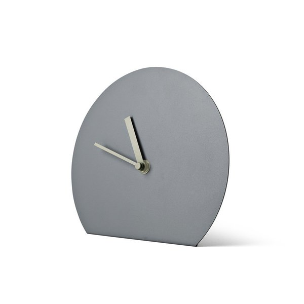 From Menu and Norm Architects, the Norm Steel Table Clock is a simple clock that is perfect for an architect's—or architecture lover's desk. Available in a variety of colors, the table clock features a simple fold, appearing to take a wall clock and bend it to accommodate a tabletop. Striking in its minimalism and innovation, this clock can be used in a home office or even on a side table.