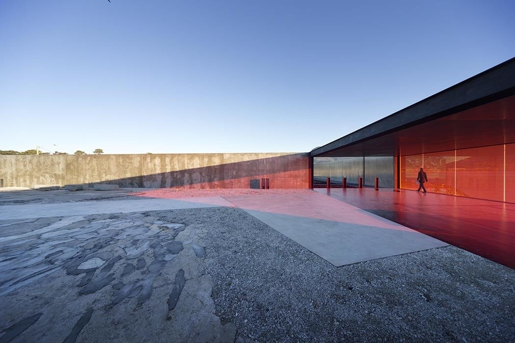 """Robust yet cost-effective wood, concrete, glass, and stainless steel comprise Tasmania's Glenorchy Art and Sculpture Park. """"Everything used is extremely efficient at producing its outcome,"""" architect Thomas Bailey says."""