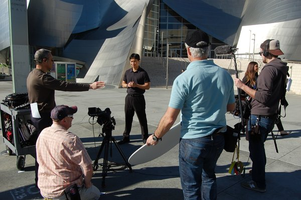 """Cool Spaces at the Disney Center<br><br>""""With our show, you can see the place on television, then actually go there,"""" says Stephen Chung, host of Cool Spaces. """"Buildings aren't the stars, it's about the people."""""""