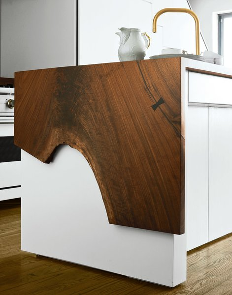 Custom kitchen cabinetry was designed by Workstead and fabricated by the firm's go-to woodworker Bartenschlager.