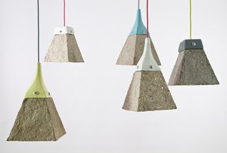 "Pulplites Lamps<br><br>Jasna Sokolovic and Noel O'Connell of Vancouver, who work under the name Dear Human, fashioned these colorful lights by adapting their ceramics skills to a new medium.<br><br>""The paper dictates the end results,"" O'Connell says of the 80 percent recycled lamps. ""It's a new medium to try something different.""<br><br>Photos courtesy of Dear Human."