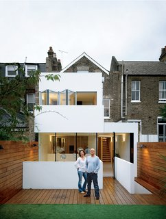 10 Indoor-Outdoor Homes in London - Photo 8 of 10 - Bruce Thatcher and Kirsty Leighton behind their London home.