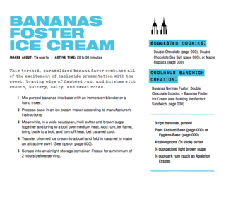 Tips from Coolhaus: <br><br>Don't overcook the base, if it starts to look like scrambled eggs, it is overcooked<br><br>Use the freshest ingredients<br><br>Add alcohol at the very end<br><br>Freeze finished ice cream for two hours before serving