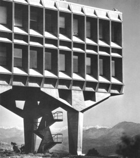 Design Icon: 10 Buildings by Marcel Breuer - Photo 7 of 11 - IBM Laboratory (La Gaude, France, 1962)<br><br>Breuer supposedly ranked this structure of prefabricated concrete panels among his favorites. Its Brutalist facade and bold geometry, suspended above the countryside near Nice, speak to the rationality and cold calculation of his client, the computing giant.