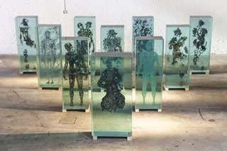 Glass Sculptures Use Magazines as Art
