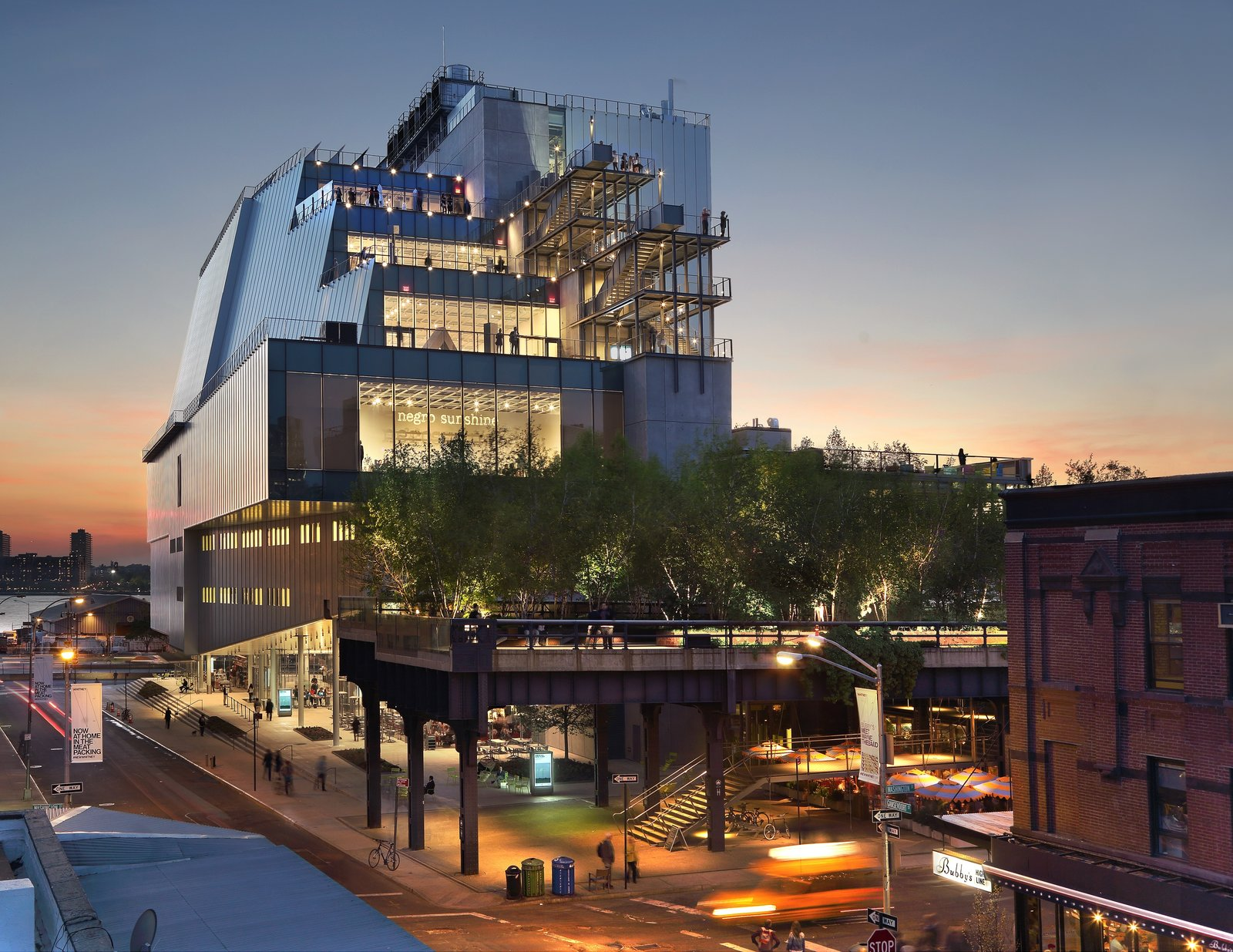 A dramatic departure from the Whitney Museum's previous home, a Marcel Breuer building on the Upper East Side, Renzo Piano's recently completed structure in the Meatpacking District opens itself completely to its surroundings.  Museum Love by Derek Van Oss from These 10 Extraordinary Buildings Remind Us Why We Love NYC