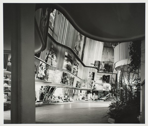 Finnish Pavilion, 1939 World's Fair, designed by Alvar Aalto. Gelatin silver print. Carnegie Museum of Art, Purchase: gift of the Drue Heinz Trust. Image courtesy of the Carnegie Museum of Art, copyright Ezra Stoller/Esto, Yossi Milo Gallery.