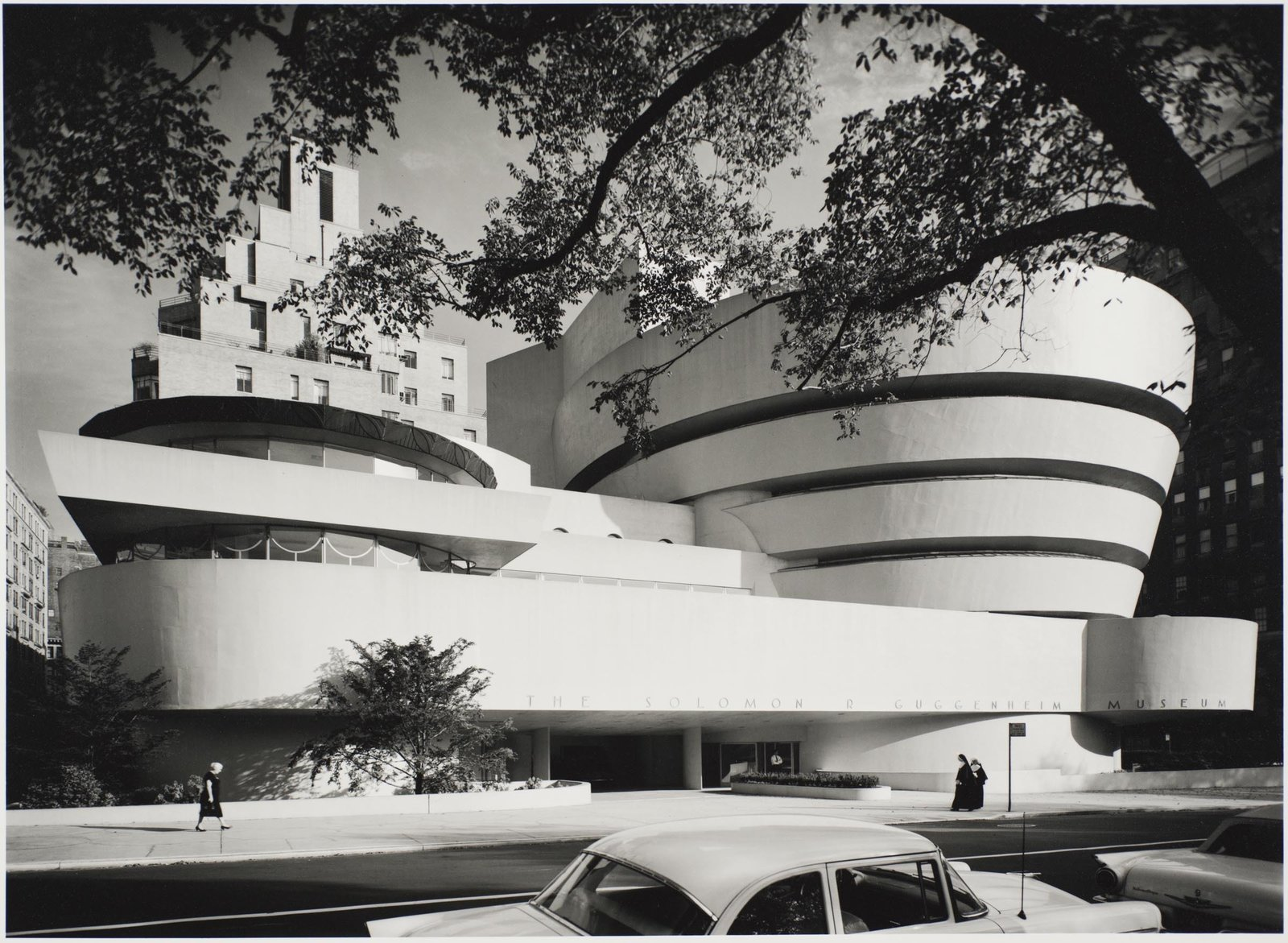 Solomon R. Guggenheim Museum, designed by Frank Lloyd Wright, photographed in 1959. Gelatin silver print. Image courtesy of the Carnegie Museum of Art, copyright Ezra Stoller/Esto, Yossi Milo Gallery.  Photo 4 of 10 in 10 Frank Lloyd Wright Buildings We Love from Modernism Through the Viewfinder: The Photography of Ezra Stoller