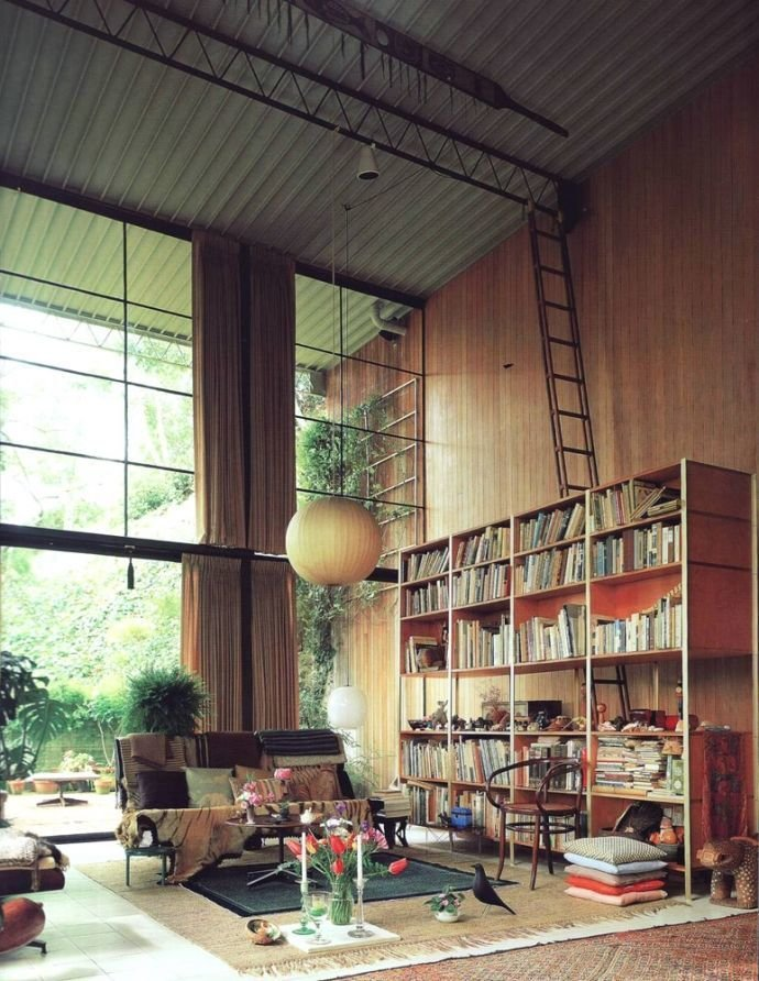 The bird makes an appearance in the Eames living room.  Photo 1 of 6 in Design Classic: Eames House Bird