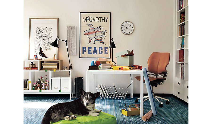 The Eames House Bird has become a popular decorative item in many mid-century inspired homes. Image courtesy of DWR.