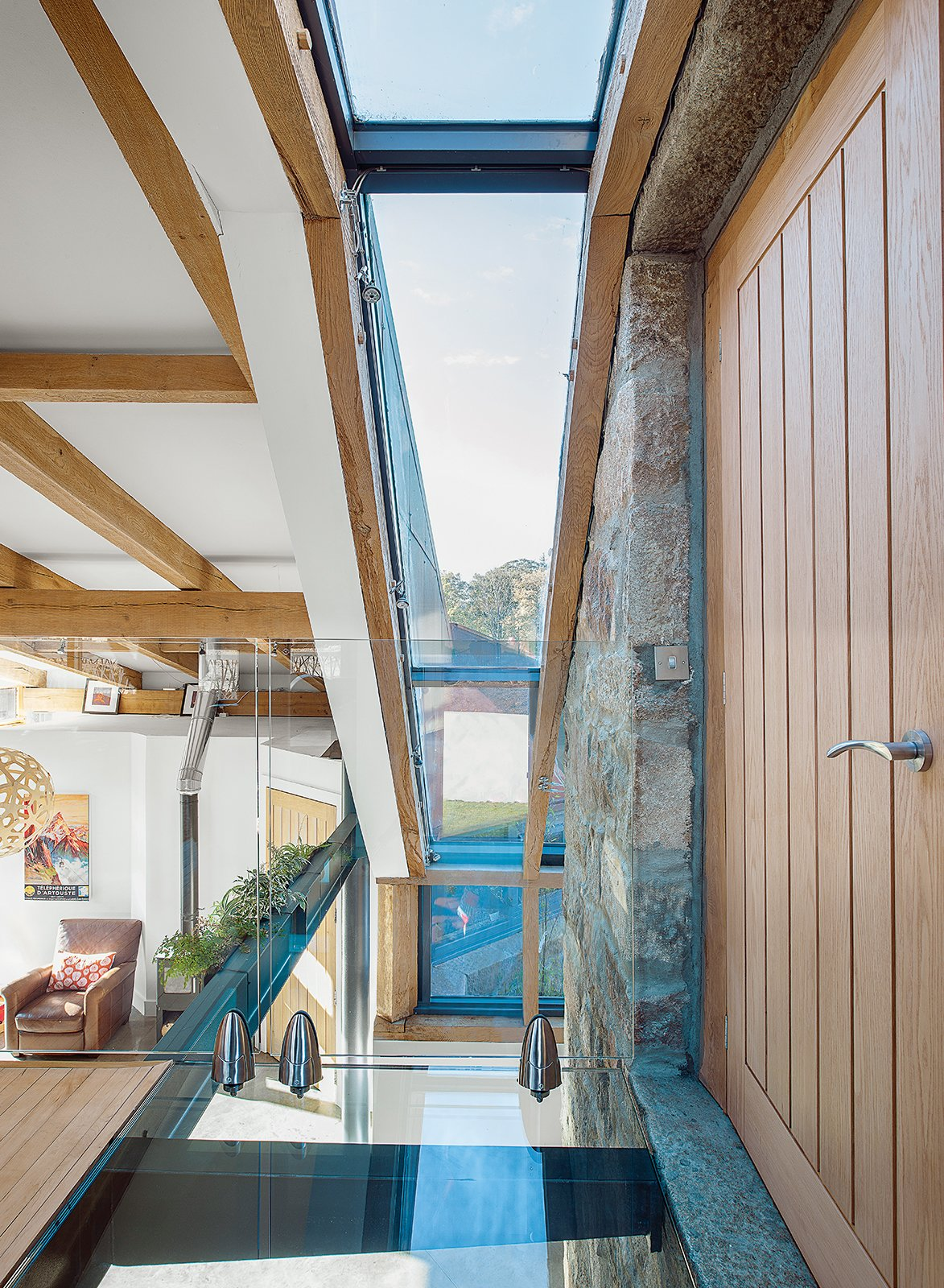 McAvoy worked with builder Stephen Campbell on structural elements such as the glass floor and walls. Tagged: Windows and Skylight Window Type.  Photo 4 of 11 in This Farmhouse is a Cor-Ten Steel-Clad Dream