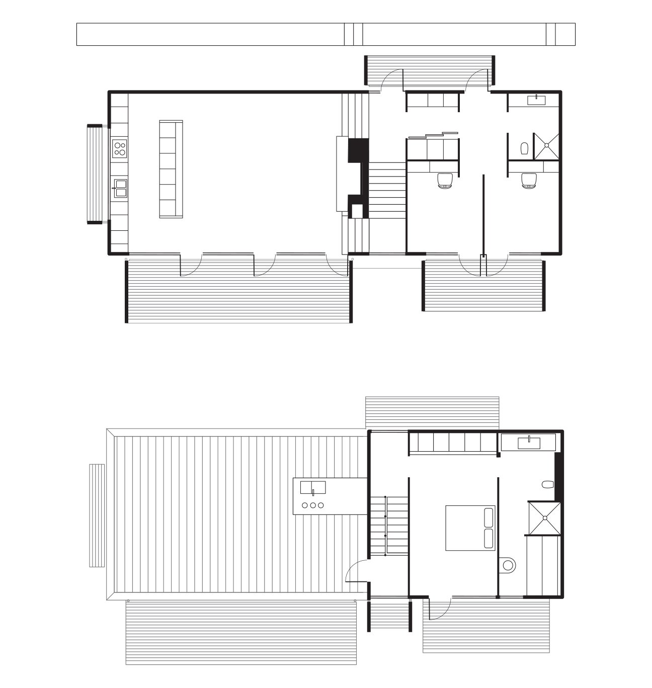 Fjällbacka House Floor Plan  A Kitchen  B Living-Dining Room  C Bedroom  D Bathroom  E Roof Deck  F Master Bedroom  G Master Bathroom  Photo 8 of 8 in A Pine Box Vacation Home in Sweden