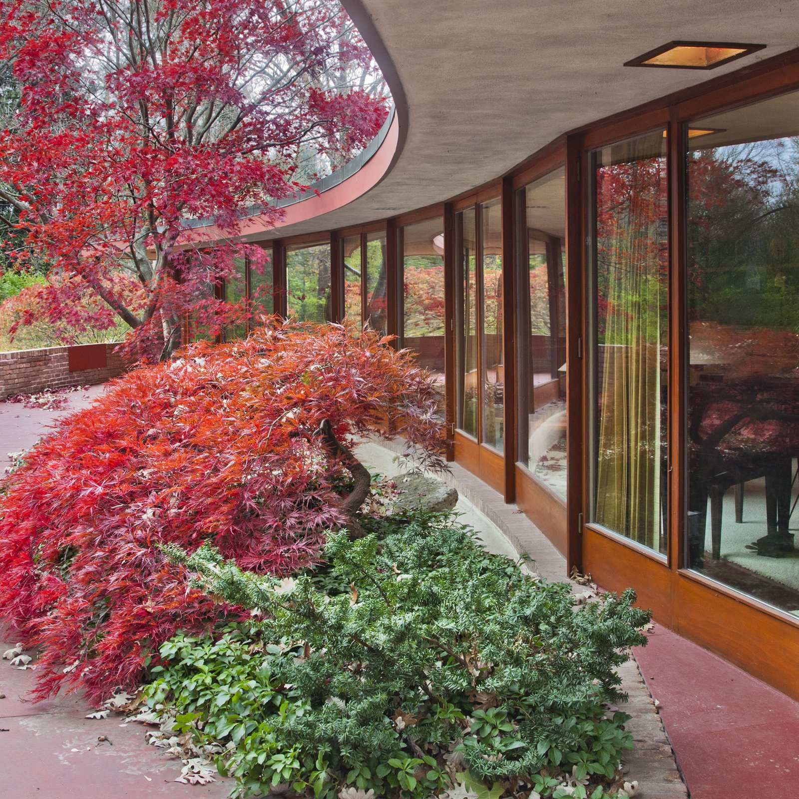 The house is one of about 60 so-called Usonian houses that Wright designed for middle-income clients starting in 1936. Image courtesy of Wright Auction House.  Photo 5 of 11 in Dwell Reflects on Frank Lloyd Wright in Honor of the 150th Anniversary of His Birth from Accessible Frank Lloyd Wright House in Illinois Is Reborn as a Museum